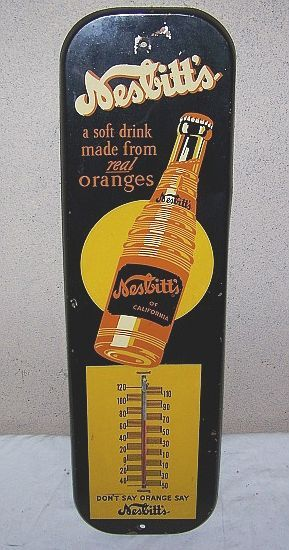 Nesbitt's Orange Soda Vintage Thermometer (Antique Pop