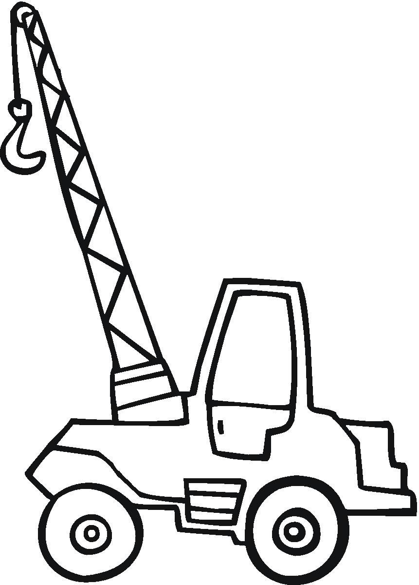 Collection Little Crane Coloring Page Truck Coloring Pages Step