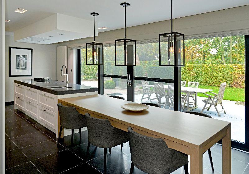 Keukeneiland met eettafel google search bussum interieur algemeen pinterest keukeneiland - Ingerichte keuken met geintegreerde tafel ...