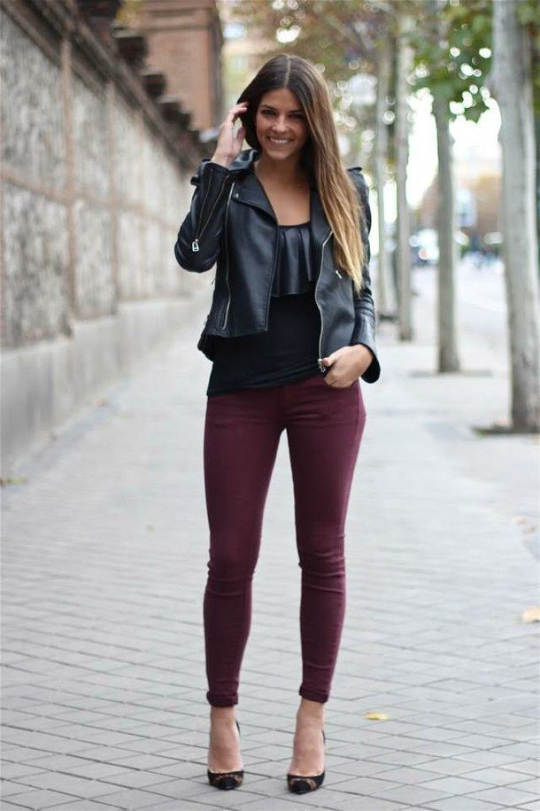 gorgeous black leather jacket outfits tumblr