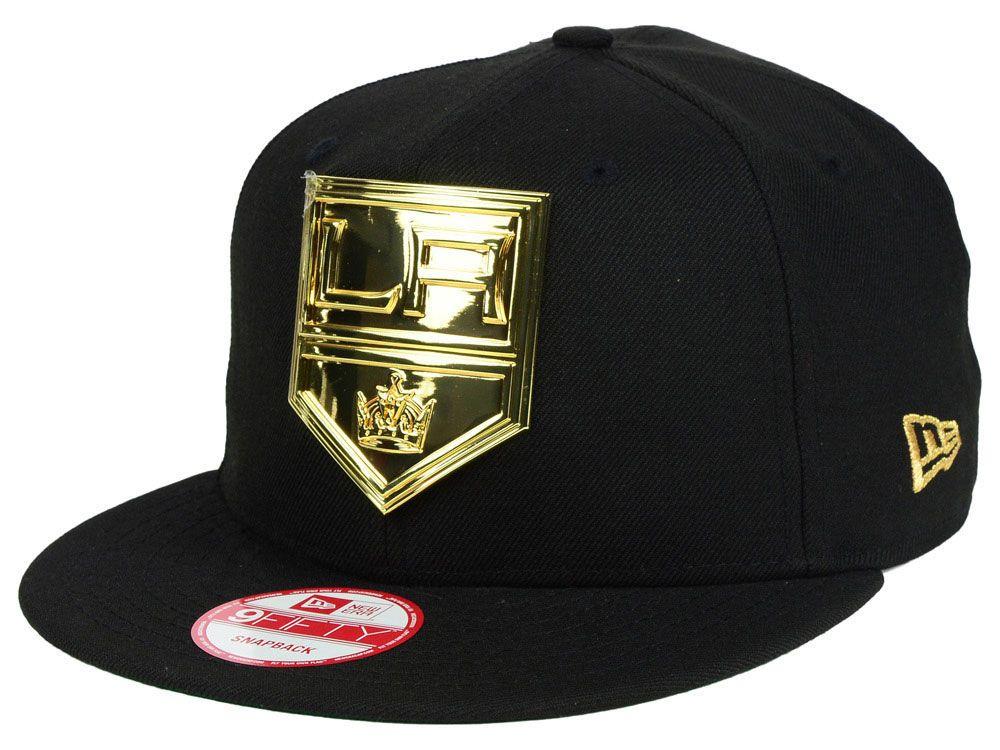 Los Angeles Kings New Era NHL League O Gold 9FIFTY Snapback Cap ... 958116009d2
