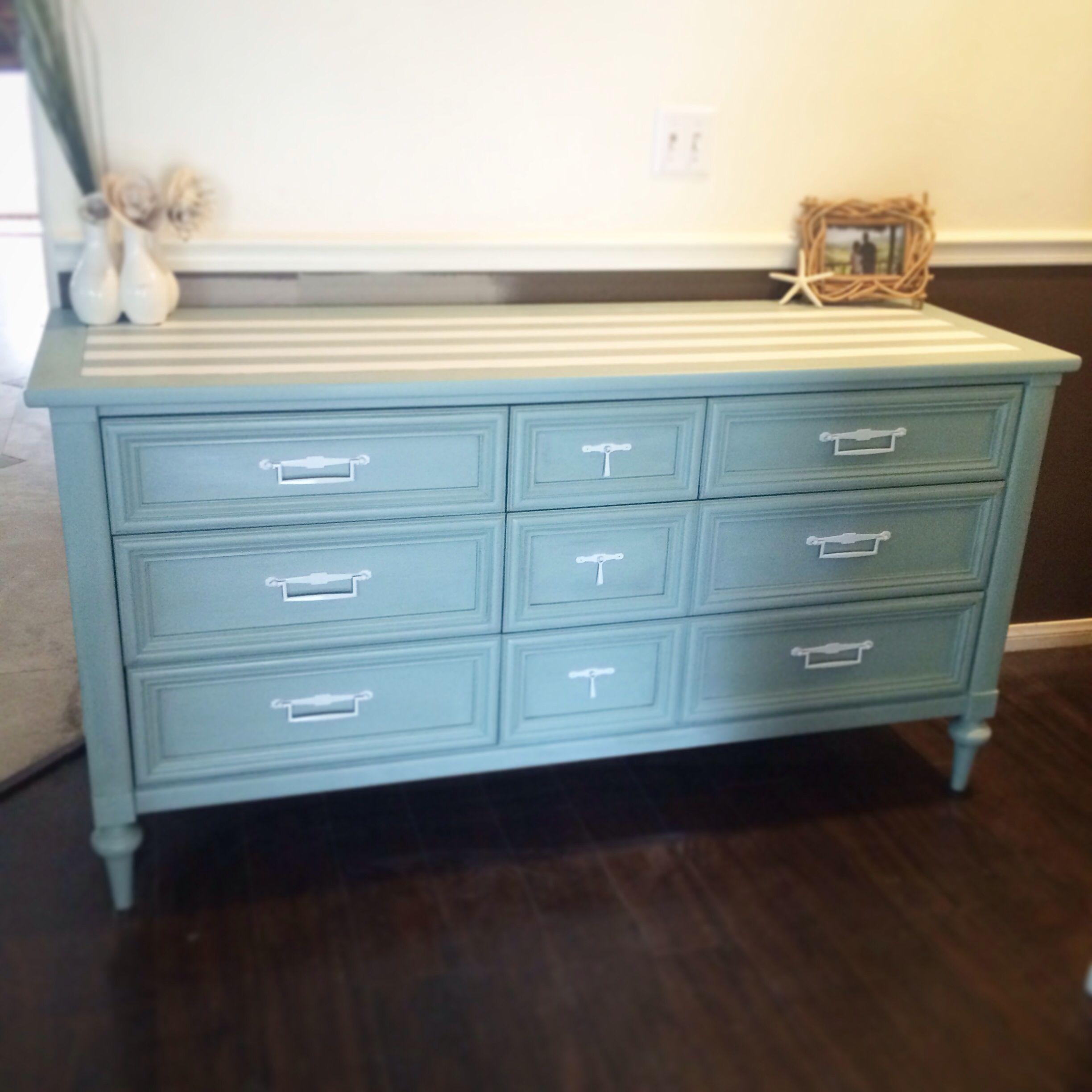 As Duck Egg Hall Paint Refinished Dresser Tv Stand