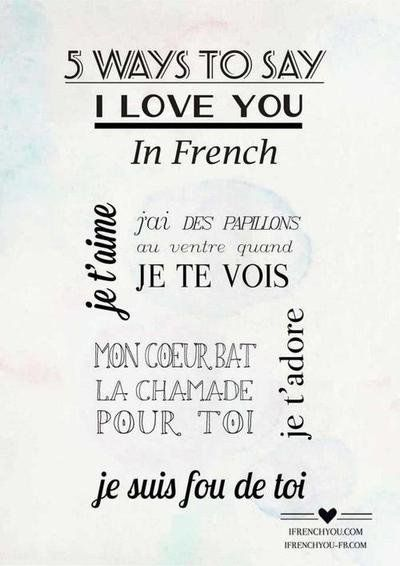 how to say are you dating in french Being polite is important anywhere you go, here or abroad, because it shows respect for the person and the culture the following words and phrases cover most of the pleasantries required for polite conversation after all, learning to say the expressions of common courtesy in french is just good .
