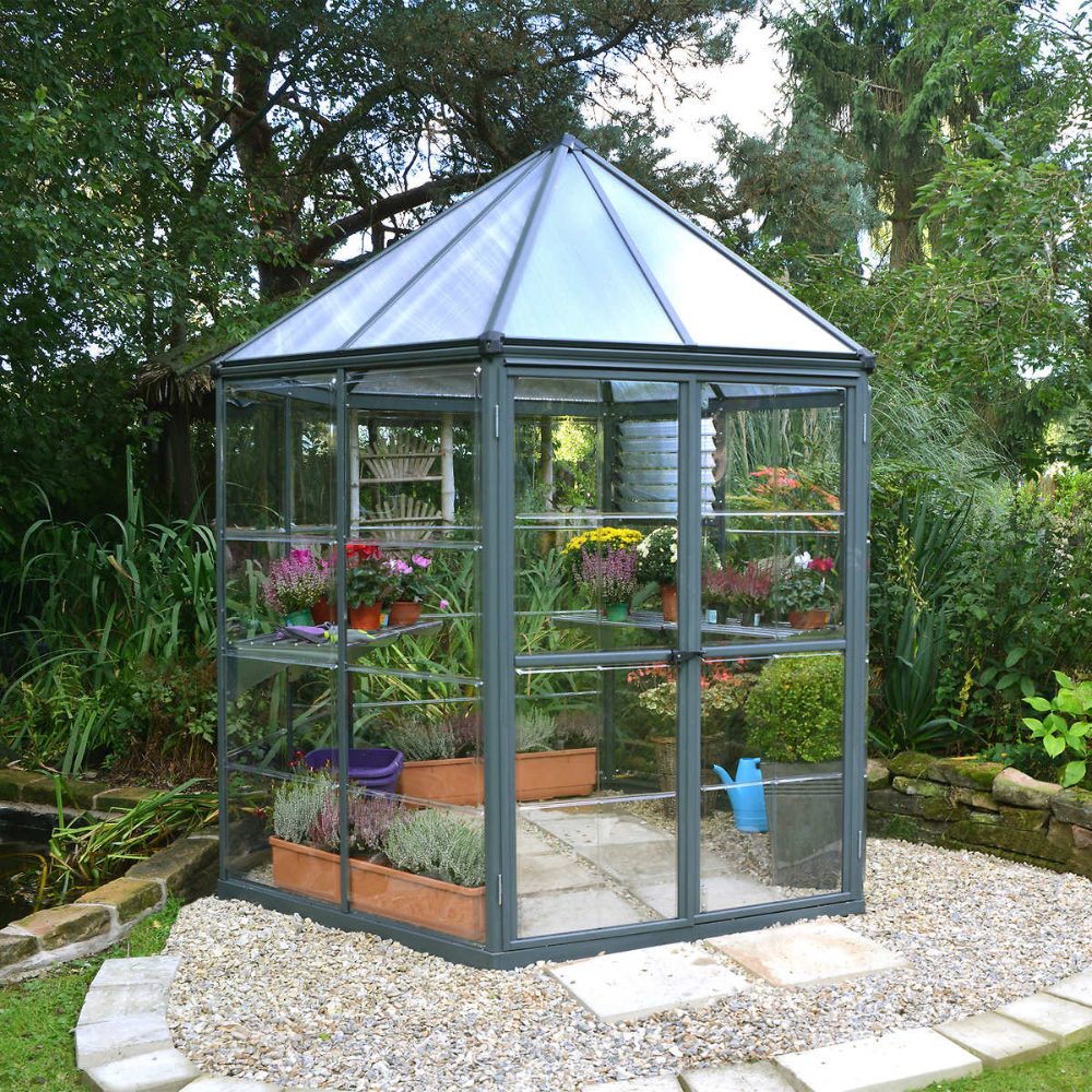 Oasis Hexagonal Greenhouse Backyard Greenhouse