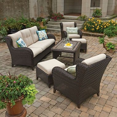 Memberu0027s Mark® Heritage 6 Piece Deep Seating Set With Premium Sunbrella®  Fabric Samu0027s. Outdoor ...