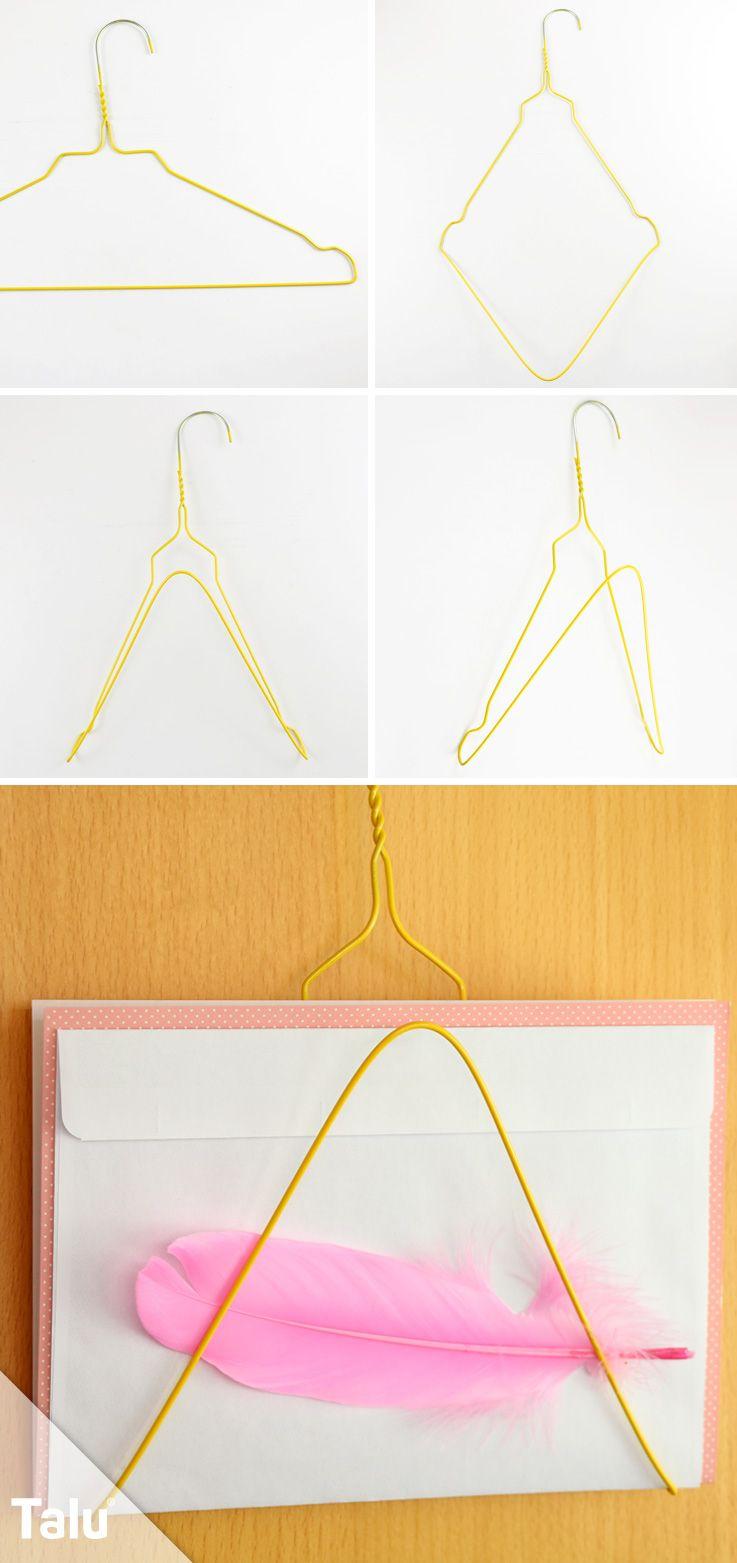 Basteln mit Draht - Ideen aus alten Drahtkleiderbügeln ...