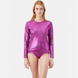 Photo of Damen Ready to Wear – Crocros Rashguard für Damen – T-shirt – Flyout – Rosa – S – Vilebrequin Vilebr