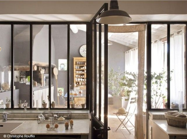 verriere maison provence kitchen window pinterest interiors and decoration. Black Bedroom Furniture Sets. Home Design Ideas