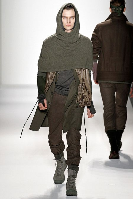Nicholas K Fall 2013. Early Middle Ages monastic dress: hood looks like the cowl of a monk's attire.