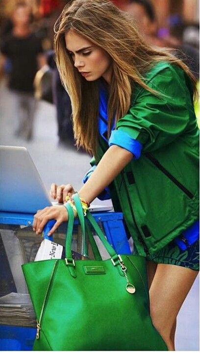 Green and blue style It's SO cute