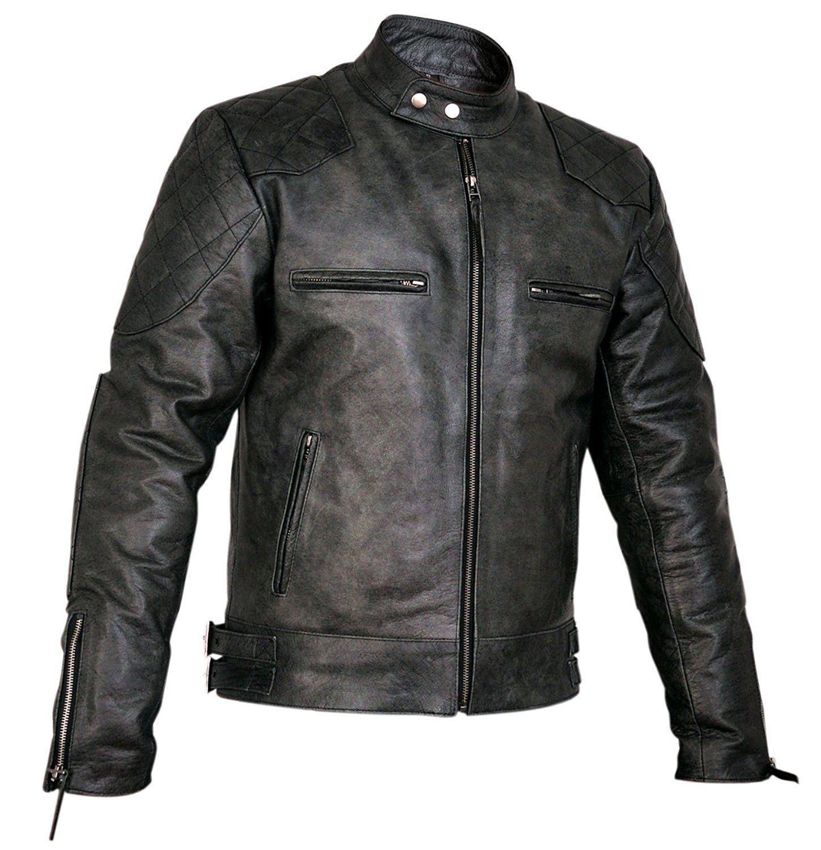 Thrix Leather Mens Designer Stannard Leather Jacket at