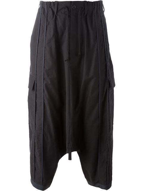 2f5ab78c650 YOHJI YAMAMOTO Trim Detail Pocketed Drop-Crotch Trousers.  yohjiyamamoto   cloth  trousers