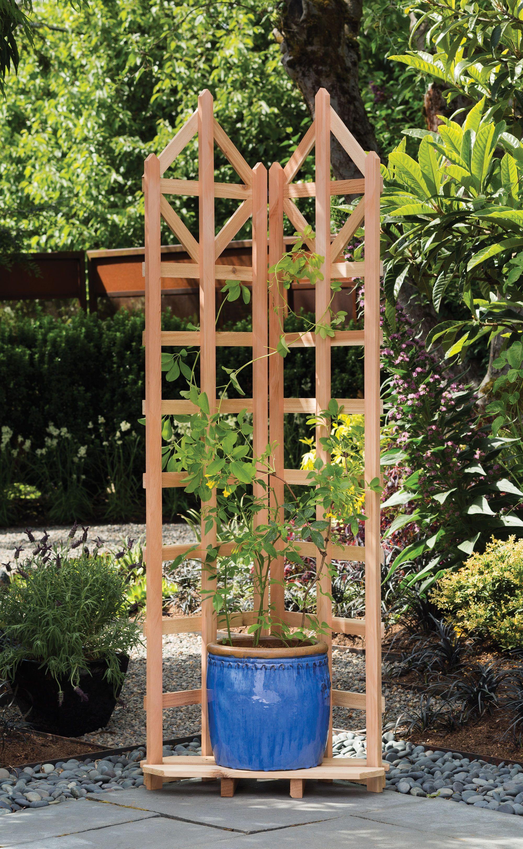 Planter Trellis | Pot Trellis | Powder-Coated Steel | Gardener\'s ...