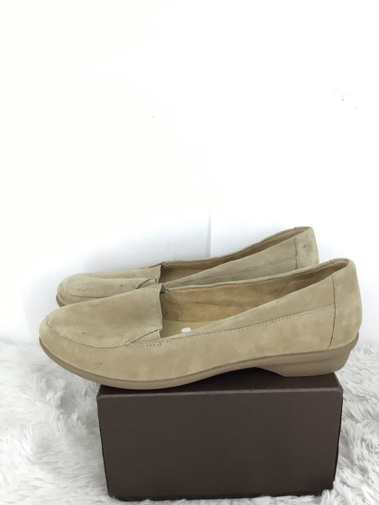 e5edf1ef551 Naturalizer Women Panache Suede Loafer  Size 5.5 M  Natural