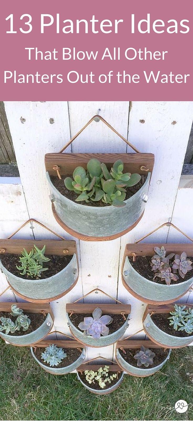 diy outdoor wall planter ideas