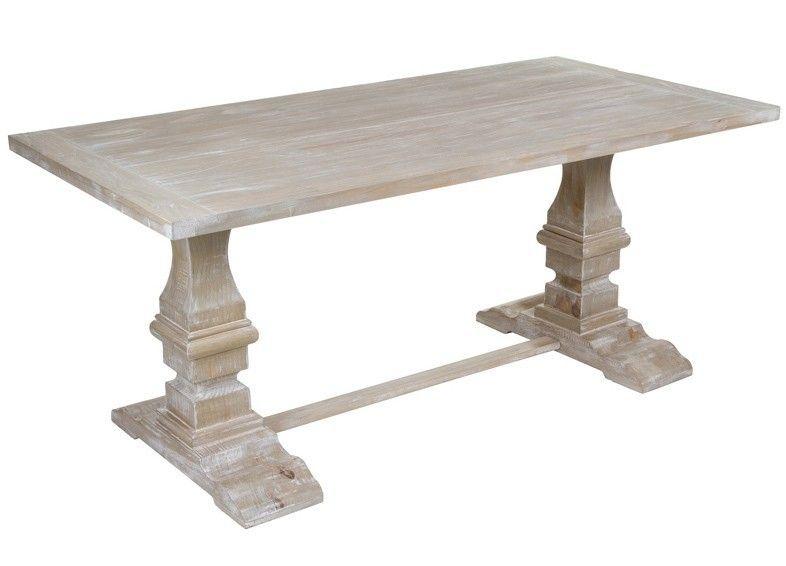 Mesa de comedor vintage con patas de pedestal. Mesa de madera ...