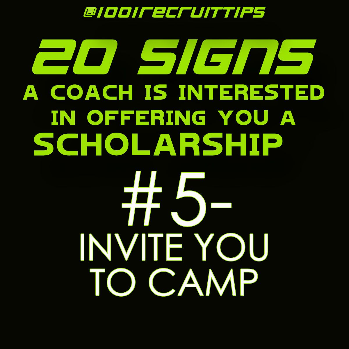 Athletic Scholarship Offers 20 Signs a coach is