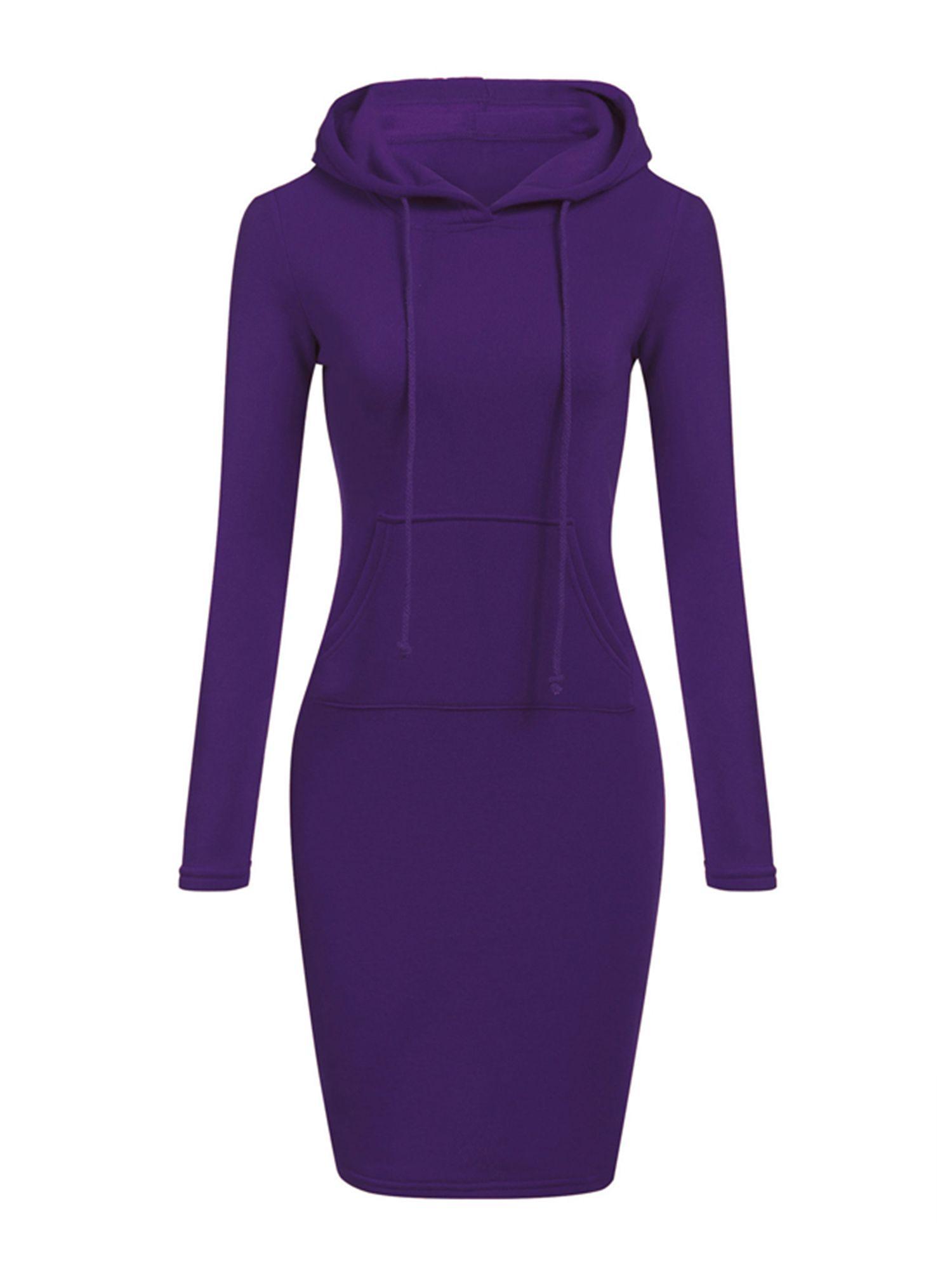 Wodstyle Womens Winter Drawstring Long Sleeve Slim Hoodie Dress Walmart Com Hoodie Dress Sweatshirts Women Womens Sweatshirt Dress [ 2000 x 1500 Pixel ]