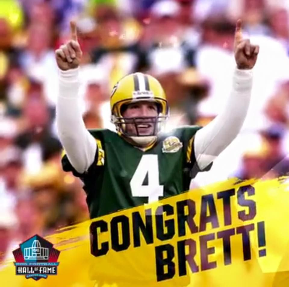 Brett Favre Elected To Hall Of Fame Green Bay Packers Green Bay Packers Fan