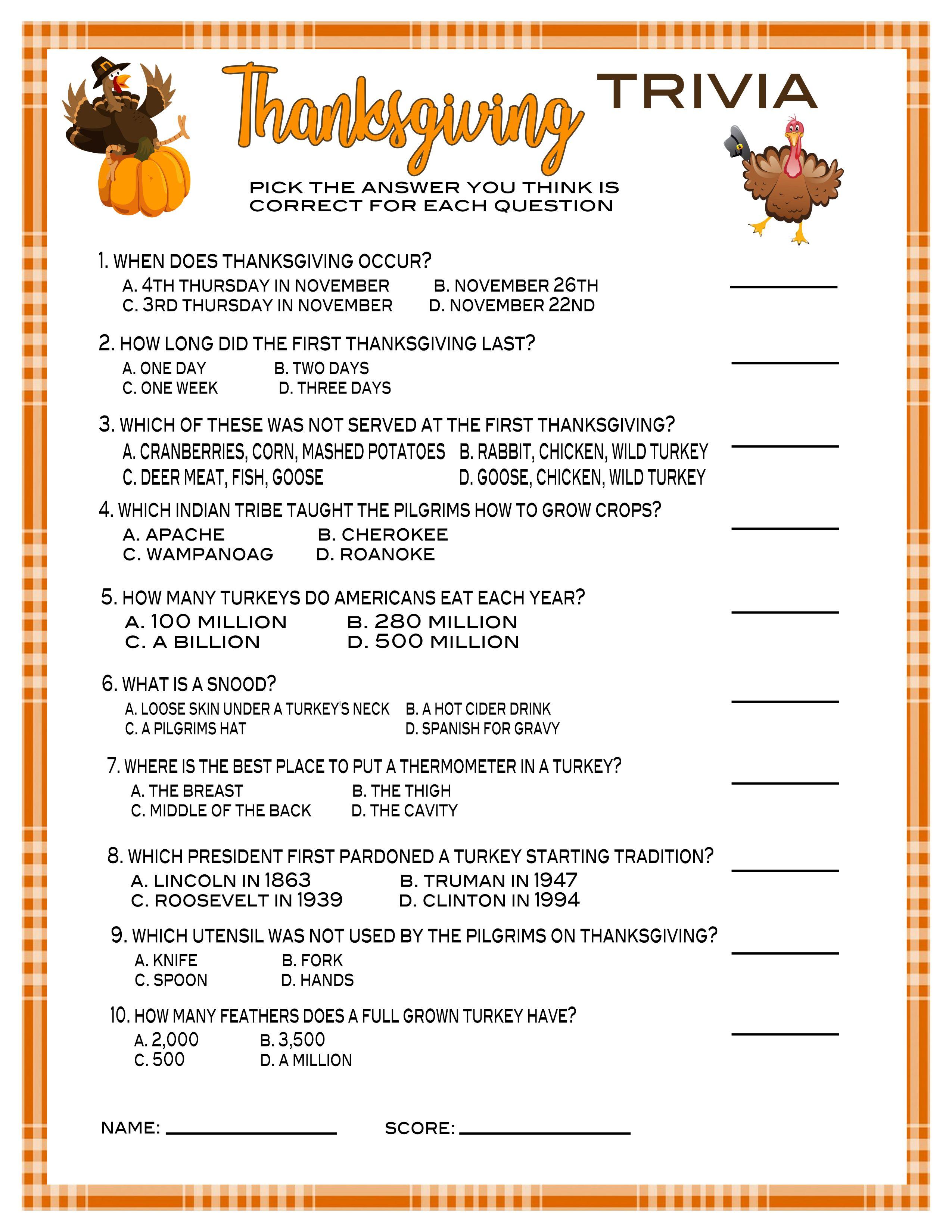13 Thanksgiving Games Friendsgiving Games Trivia Family Games Activities Printable Or Virtual Party Games Instant Download In 2020 Thanksgiving Family Games Friendsgiving Games Thanksgiving Games