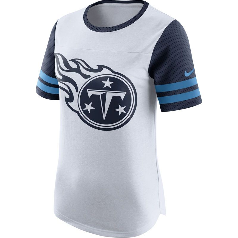 Women s Nike White Tennessee Titans Gear Up Modern Fan Performance T-Shirt aff4a01bf