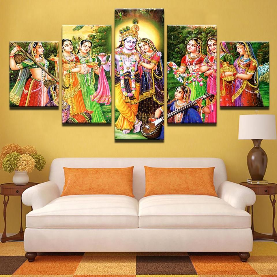 Lord Krishna Painting - Superior Quality Canvas Printed Wall Art ...