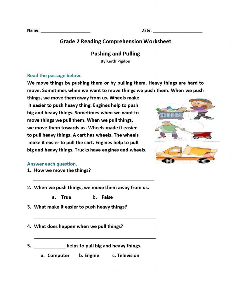 2nd Grade Reading Worksheets With Images Reading Worksheets
