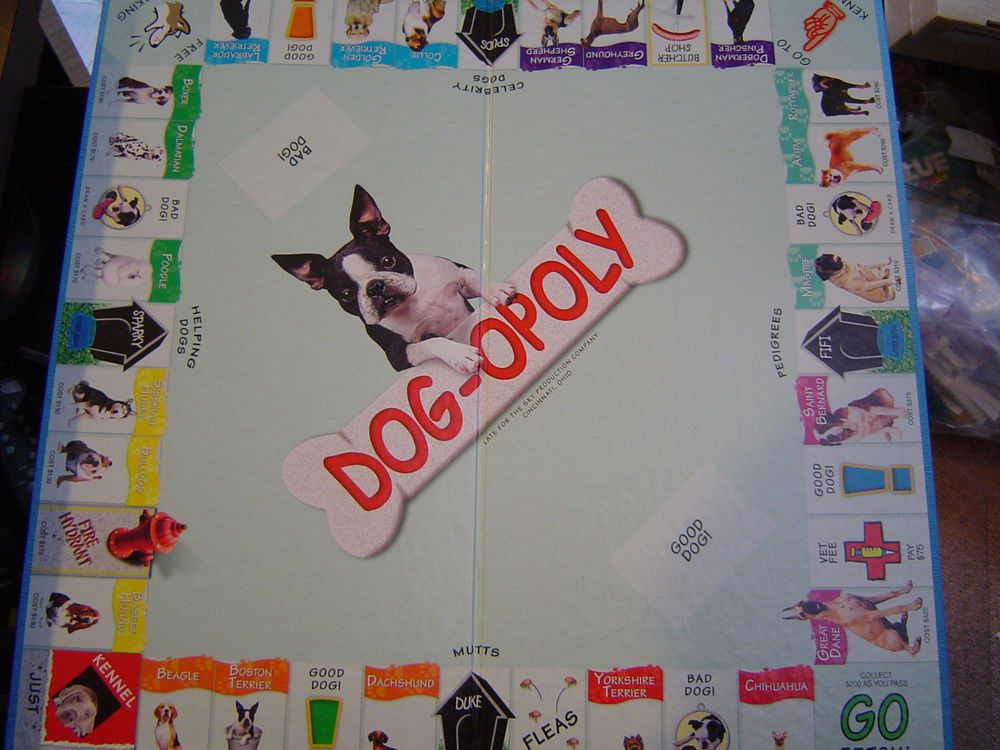 Dog Opoly Replacement Board Only Single Fold Pinterest Game