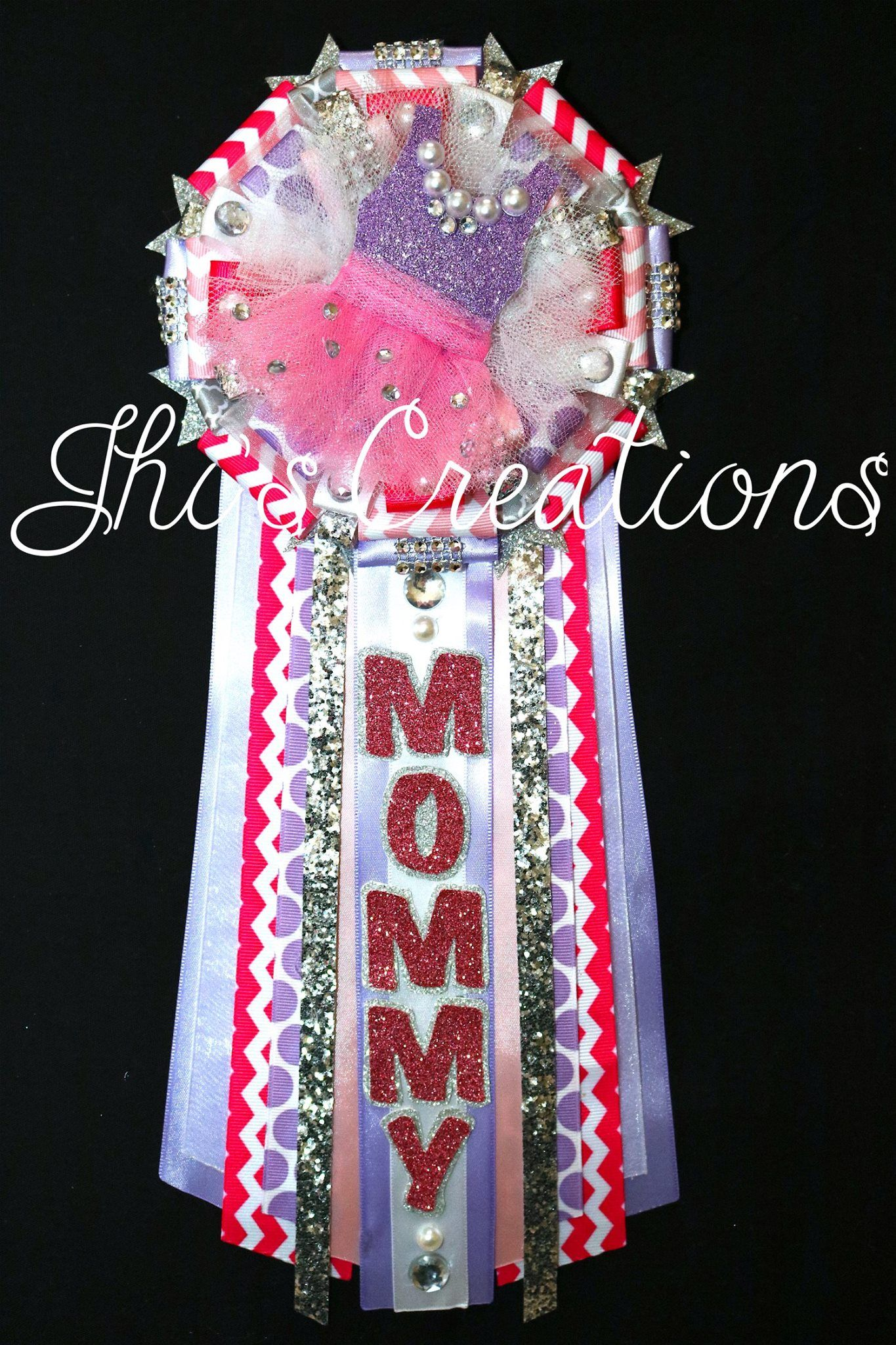 Amazing Tutu Themed Baby Shower Pin/mum/corsage Set In Hot Pink, Lavender, Light  Pink, White, And Silver #JhisCreations
