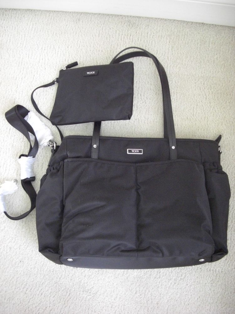 1301459618 Tumi Cali Nylon Travel Baby Bag Black Shoulder Tote NWT  Tumi  TotesShoppers