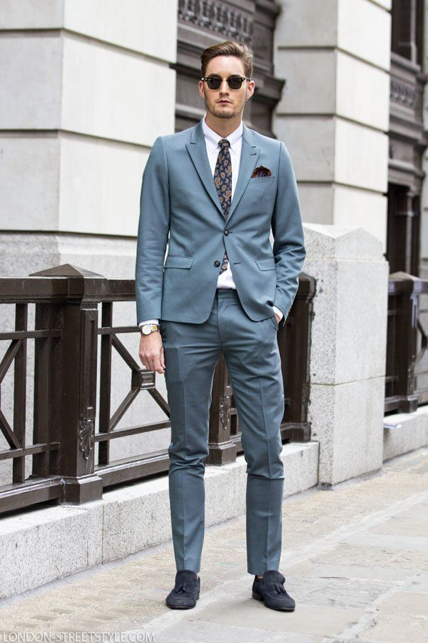 Men's style: Stephen Kelly, blue shoes and tie: vintage ...