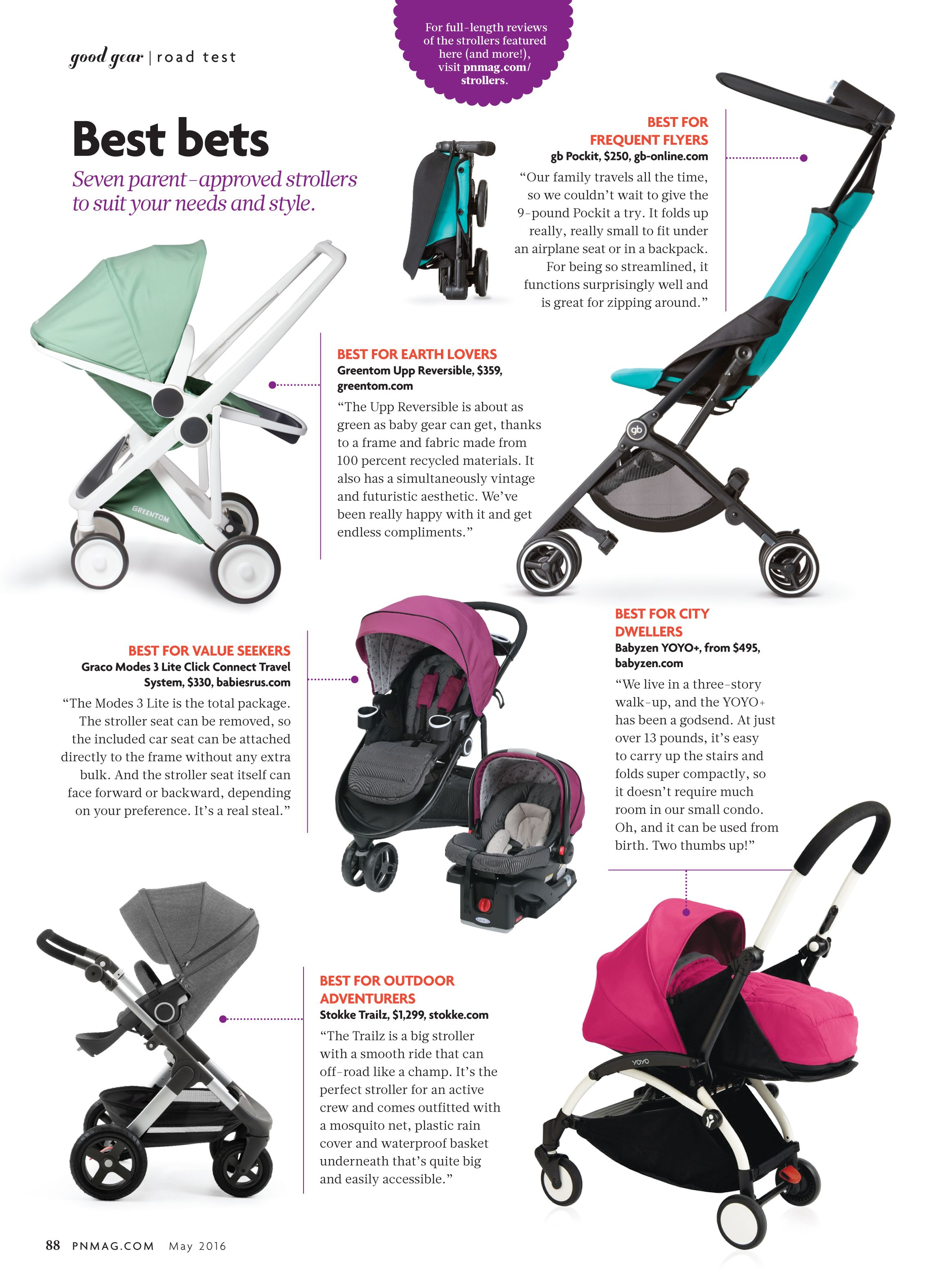 Stokke Trailz Stroller Featured In Pregnancy Newborn Magazine Baby Klapvogne Barselsgaver Gear