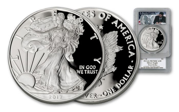 2017 1 Oz Silver Eagle Pcgs Pr70dcam Fs Liberty Coin Act Label Govmint Com Silver Eagles Coins Silver