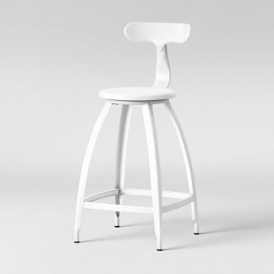 Fantastic Seidler Architect Industrial Counter Stool White Project Machost Co Dining Chair Design Ideas Machostcouk