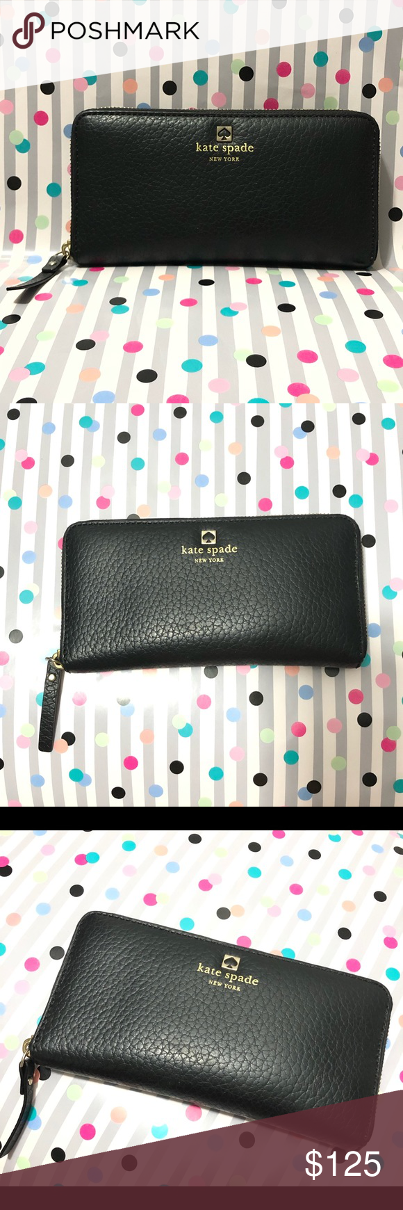 KATE SPADE BLACK WALLET KATE SPADE BLACK WALLET  Beautiful black wallet in great condition.  LIKE NEW!