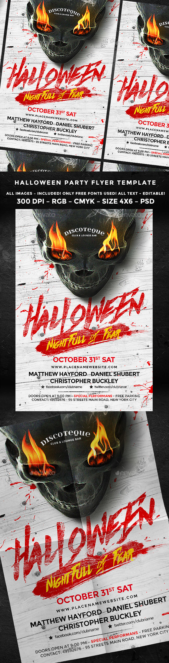 Halloween Flyer Template Psd Templates And Mockup