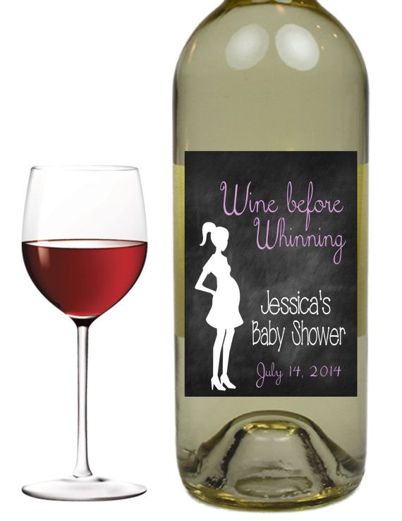 Baby Girl Baby Boy Baby Shower Wine Labels By Things2chalkabout