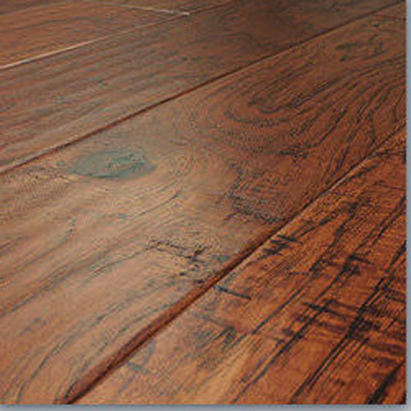 Timeless elegance savannah hickory hand scraped laminate for Laminate flooring chicago