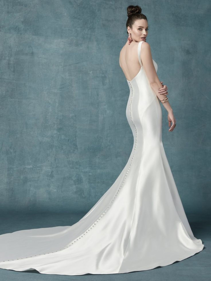 bf7f09d4052 ... season  Teagan has that  MeghanMarkle kind of vibe by  MaggieSottero  from the  newestcollection  TheAlastaireCollection  spring2019   simpleweddingdress