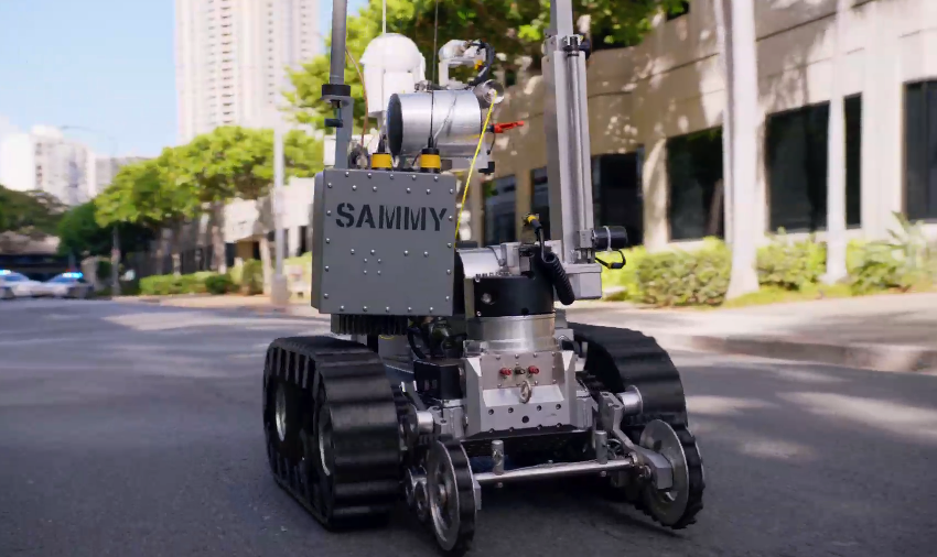 Sammy the robot was created w/ consultation from an explosive technical specialist at the ATF #H50