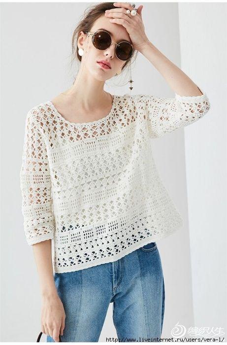 Blusas De Crochet Camisa De Croche Croche Fashion Blusas De Croche