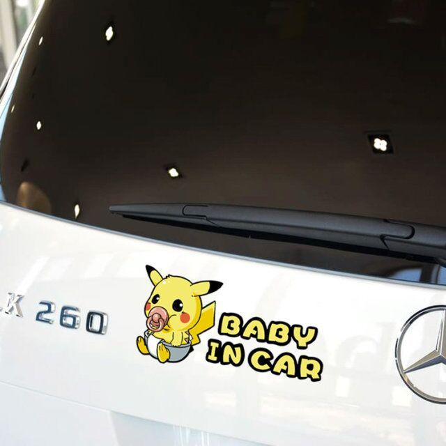 Pokemon pikachu baby in car styling stickers and decals fandom express