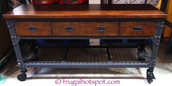 Amazing Whalen Industrial Metal U0026 Wood Workbench Costco   Frugal Hotspot