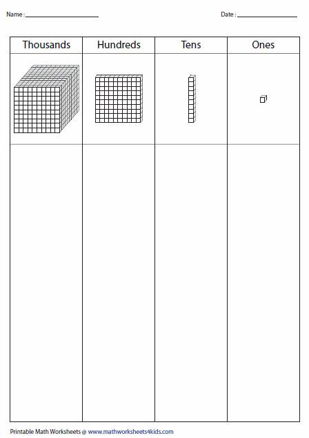 Base Ten Blocks Worksheets Place Value Worksheets Teaching Place Values Base Ten
