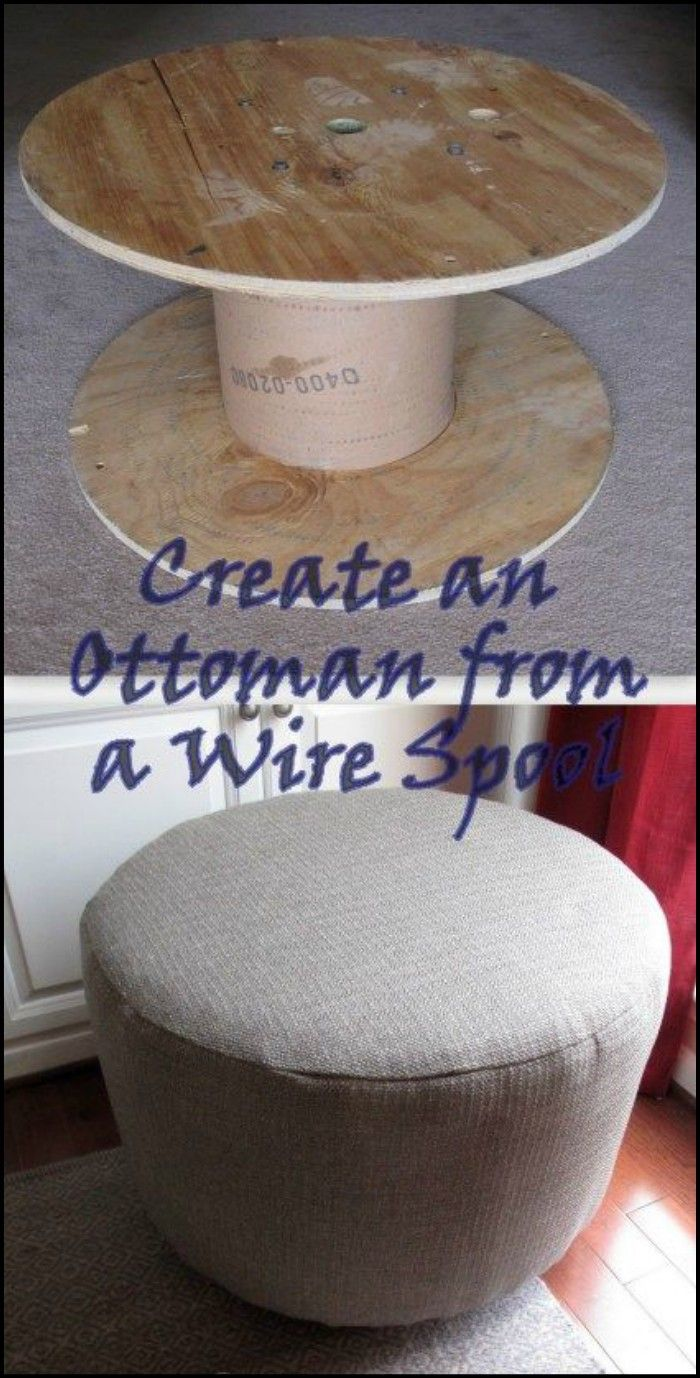 DIY Salvaged Spool Ottoman | Reciclaje manualidades, Reciclaje y ...