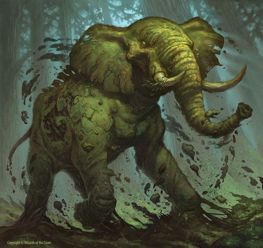 Magic the Gathering Official art Elephant by Jim Nelson