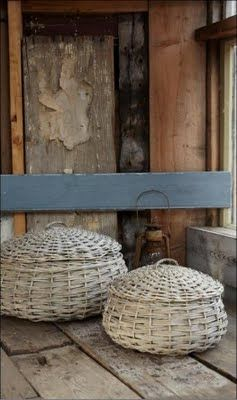 .Big white baskets