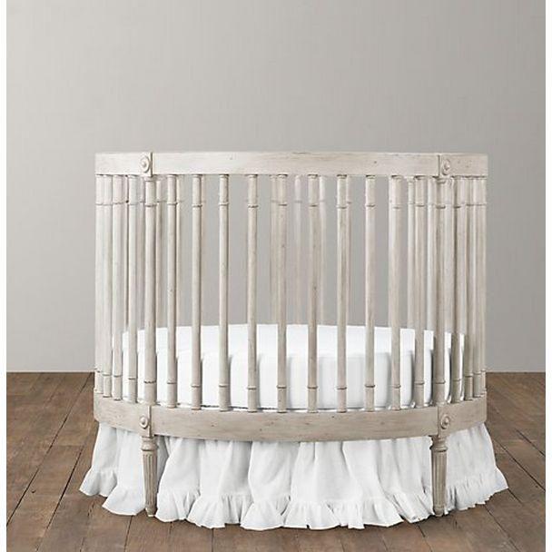 Image Of Restoration Hardware Round Crib Round Cribs Round Baby