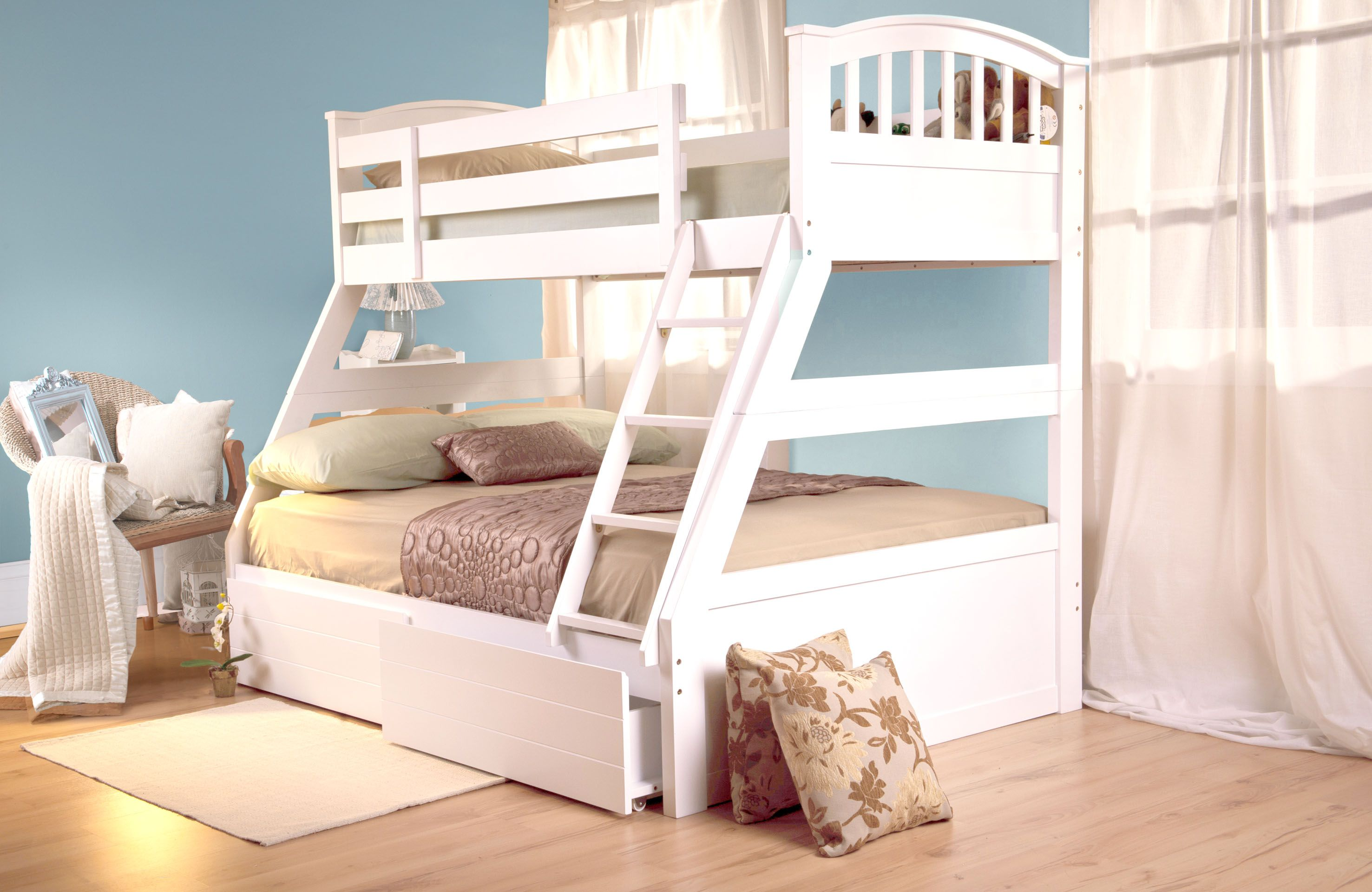 Sweet Dreams Epsom White Triple Bunk Bed Bunk Beds White Bunk Beds Triple Bunk Bed