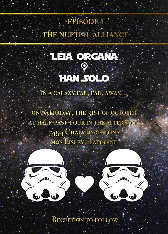 Stormtroopers Star Wars Wedding Invitation Save The Date